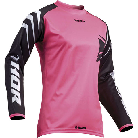 Camisola THOR WOMENS SECTOR ZONES Preto/Rosa 2019