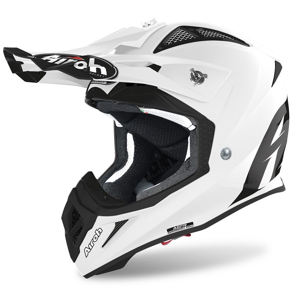Capacete AIROH AVIATOR ACE COLOR Branco Gloss 2020