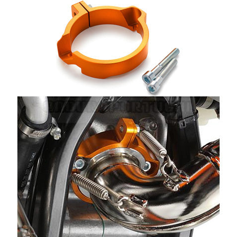 Protector de Flange do Escape Original KTM EXC 250/300 2017-2018, SX 250 2017-2018