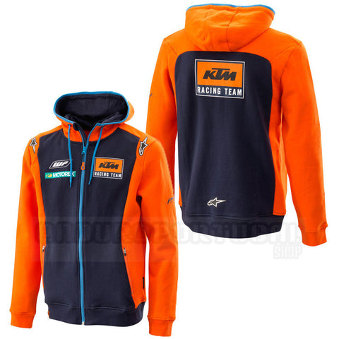 Sweat com fecho central e capuz KTM ALPINESTARS RÉPLICA TEAM