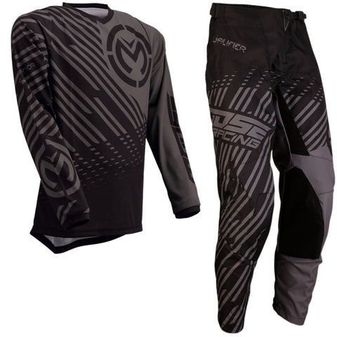 Conjunto MOOSE RACING QUALIFIER Cinza/Preto 2020