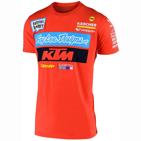 T-shirt KTM TROY LEE DESIGNS TEAM NEW ORANGE 2019