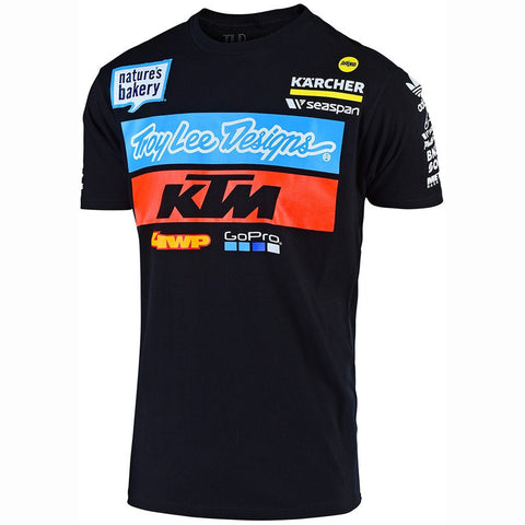 T-shirt KTM TROY LEE DESIGNS TEAM Preto