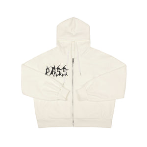 PASS LOGO EMBROIDERY ZIP-UP HOODIE