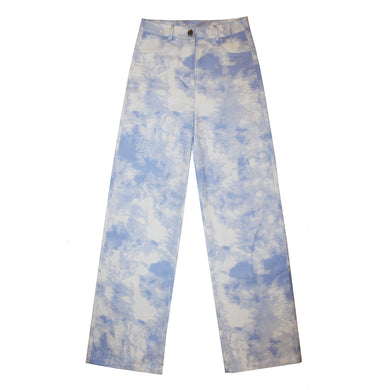 PALE BLUE STRAIGHT LEG PANTS