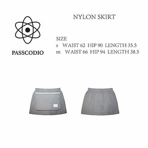 NYLON SKIRT SOFT GREY