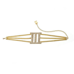DIMINISH III CHOKER 03 /GOLD
