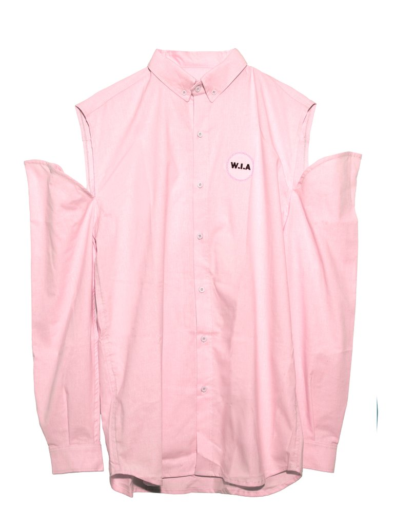 PINK DIGITAL DENIM SHIRT