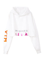 I'M SO HIGH CROP HOODIE