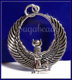 Sterling Silver Egyptian Goddess Pendant