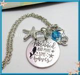 Be a Mermaid and Make Waves Necklace - Silver Mermaid Necklace