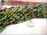 Czech Glass Seed Beads, Picasso Mix, 6/0 Seed Beads - Aged Picasso Seed Beads, 20 inch