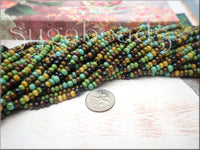 Czech Glass Seed Beads, Picasso Mix, 6/0 Seed Beads - Aged Picasso Seed Beads