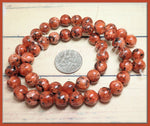 Mandarin Orange Sesame Jasper beads 8mm