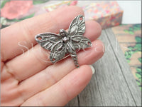 Green Girl Studios Pewter Butterfly Fairy Pendant or Connector