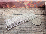100 Silver Plated Head Pins 60mm 2.36 inches 21 Gauge