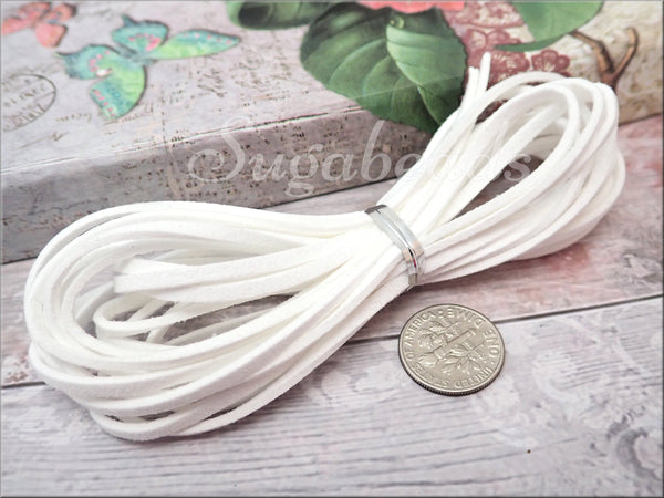 12 Feet Flat Faux Suede Cord, Faux Velvet Cord, Size 2.5mm x 1.2mm