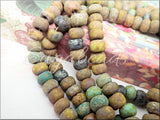 34/0 Czech Glass Matte Seed Beads, Aged Rustic Jaded Picasso Mix