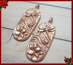 Rose Gold Dragonfly & Lotus Flower Pendant From Green Girl Studios