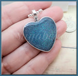 Pretty Sparkling Blue Heart Necklace