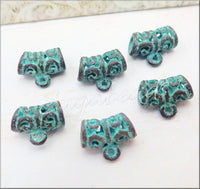Mykonos Greek Castings, Copper Bails with Patina