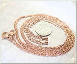 18 inch Stainless Steel Chains in Rose gold tone, Finished Cable Chains