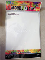10 Pack Translucent Yupo Paper, 5 x 7 in Yupo Paper, Ranger Ink Yupo