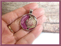 Abstract Artwork Pendant, Pink Alcohol Ink Pendant, Resin Pendant - sugabeads