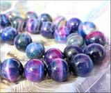 Stunning Rainbow Tiger Eye Beads, 14mm