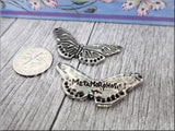 Green Girl Studios Pewter Butterfly Metamorphosis Pendant or Connector