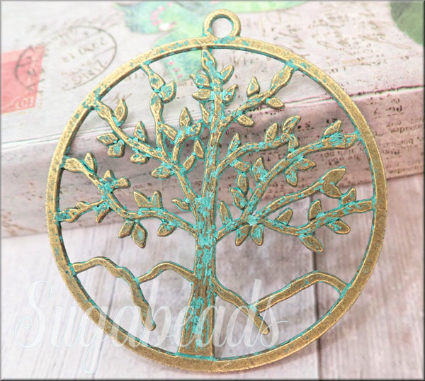 Zola Elements Tree of Life Pendant with Patina