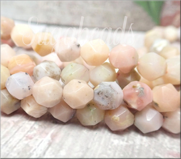 24 Star Cut Opal Gemstone Beads 8mm SBGB103