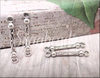 6 Zola Elements Antique Silver Decorative Connector Bar Link 23mm x 3mm