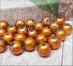 50 Burnt Orange Glass Beads 8mm
