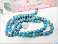 Teal and Blue Mix Crazy Lace Agate Gemstone Beads 8mm