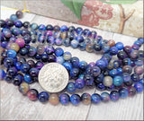 12 pieces Rainbow Tiger Eye Beads 6mm, Galaxy Tiger Eye, Blue Tiger Eye, Gemstone Beads