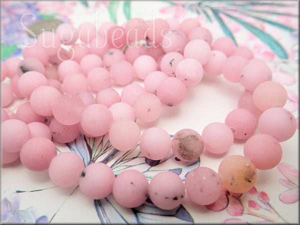 Frosted Cherry Blossom Jasper Beads, 10mm