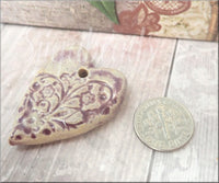Gaea Ceramic Heart, Gaea Twilight Romantic Heart 29x30mm