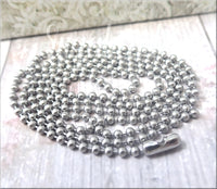 30 Inch Stainless Steel Ball Chain, Ball Chain Necklace, 30 Inch Necklace