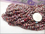 Magic Raspberry Seed Beads, size 6/0 Tri cut - sugabeads