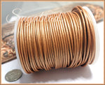 Gold Metallic Leather Cord, Round Cord, 16 feet Leather, 1.5mm thick Leather Cord, Gold Cord