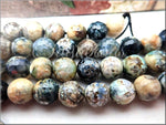 Mixed Agate, Micro Faceted, Grey, Black, White, Beige Agate 8mm
