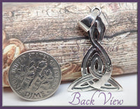 Sterling Silver Celtic Knot Double Serpent Pendant
