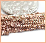 18 inch Rose Gold Plated over Sterling Silver Chain