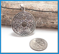Sterling Silver Celtic Knot Pendant with Pentagram