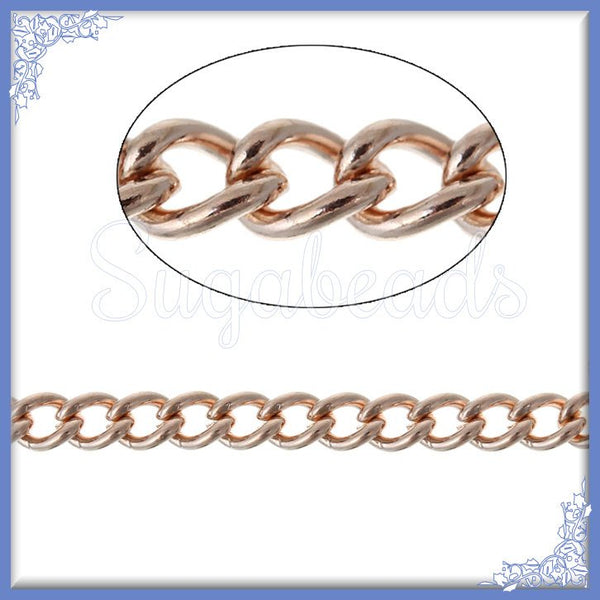 32 ft Bulk Chain Light Rose Gold - Unfinished Light Rose Gold Chain - 32 feet Chain - RGC1