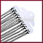 4 Black Finished Chains - 24 inch Chains, Cable Chains with Clasps, Black Chains, CCBK1