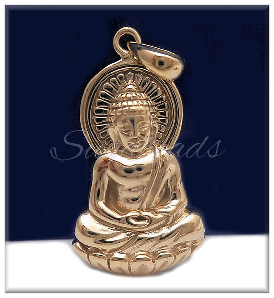 1 Natural Bronze Buddha Pendant 30mm ND13