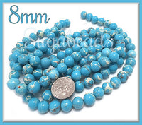 Sky Blue Sea Sediment Jasper 8mm - Blue Impression Jasper, SBGB34