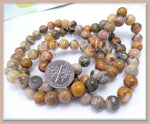 1 Strand Crazy Lace Agate Gemstone Beads 8mm - Warm gold Agate, SBGB1